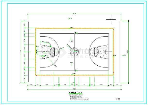 好看的篮球平面图卡通