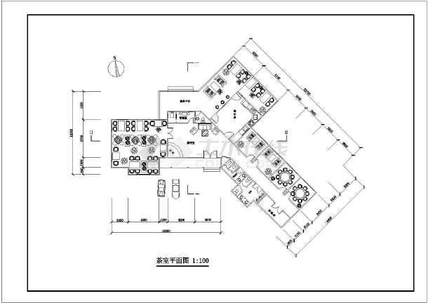 8个公园茶室建筑平面图和结构施工图(含cad图例)