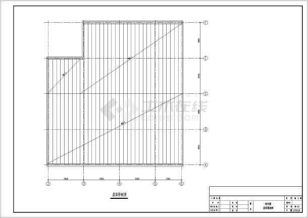 图纸 建筑结构图 网架结构图纸 网架穹顶 某综合楼不规则网架结构设计