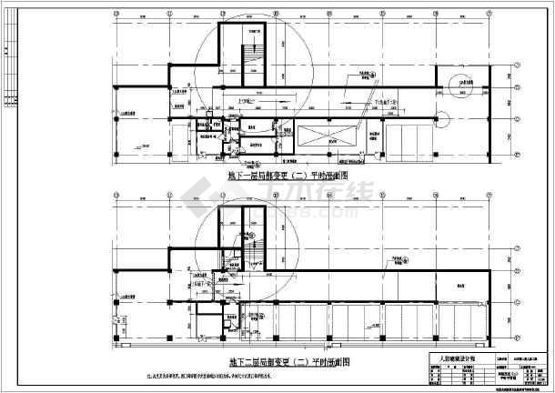某地负二层人防建筑建筑设计施工图图片2