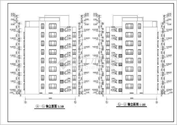 某地框架结构七层住宅建筑设计施工图