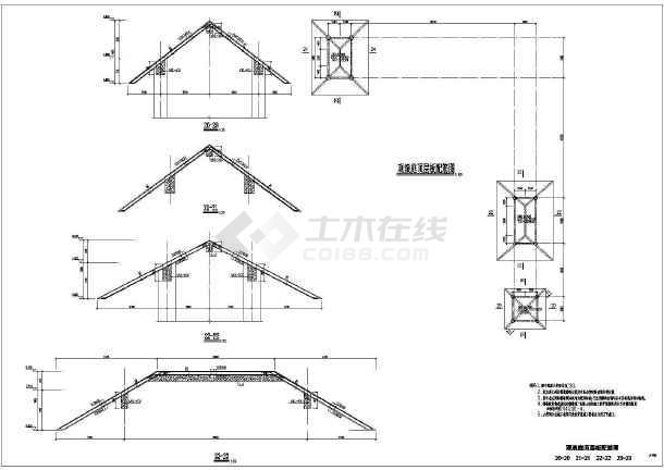 图纸 建筑结构图 地基基础图纸 其他基础施工图 重庆某游乐场大型设备