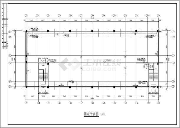 某学校7层框架结构学生宿舍楼建筑设计方案图