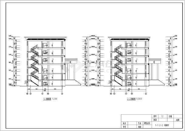土木工程毕业设计 房屋建筑学课程设计 学生课程设计某五层框架结构办