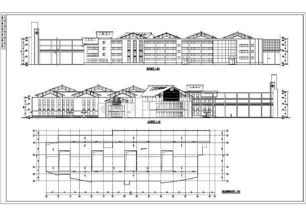 营养厨房,锅炉房,一期病房楼,总平面图,其中门诊综合楼建筑面积为
