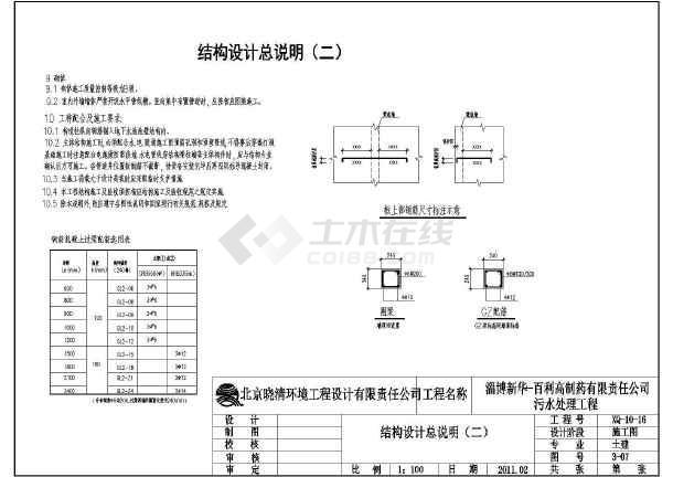 建筑设计总说明,平面图,立面图,剖面图;结构设计总说明,设备间基础