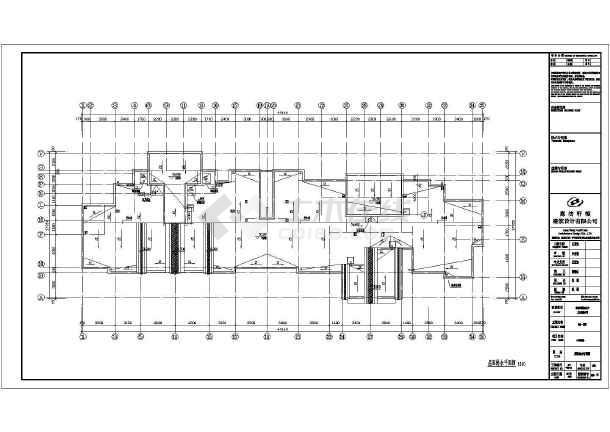 某地18层带人防住宅楼建筑设计施工图