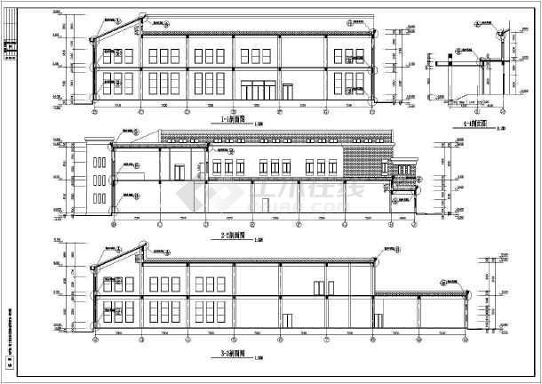 某地两层框架结构食堂建筑设计施工图