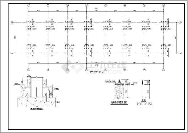 某地三层轻型带夹层钢结构办公楼结构图
