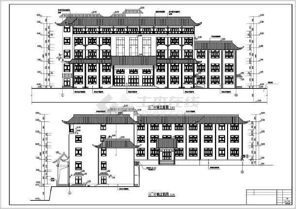 株洲某五层钢筋混凝土结构仿古酒店建筑设计施工图