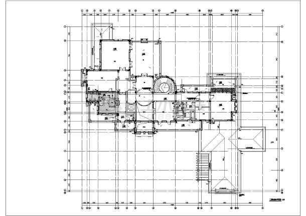 某豪华别墅给排水施工图-图3