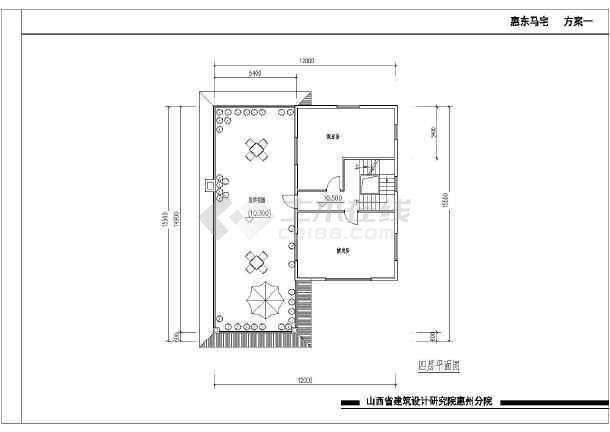【鄂尔多斯】某别墅建筑平面设计图