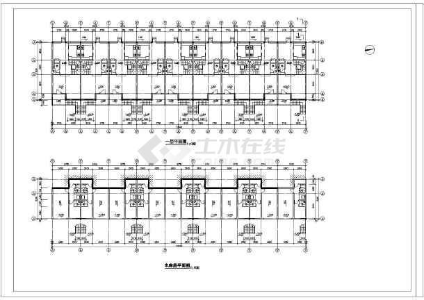 某地多层住宅楼建筑平面户型图设计