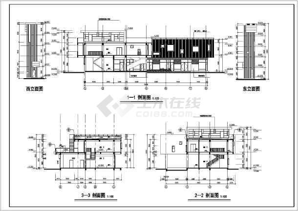 某某小区商店建筑设计施工图(全套)