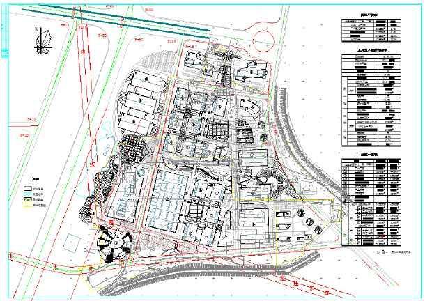 北方某大型工业园详细规划总平面图纸图片1
