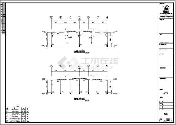 40米跨度建筑钢结构厂房建筑图纸