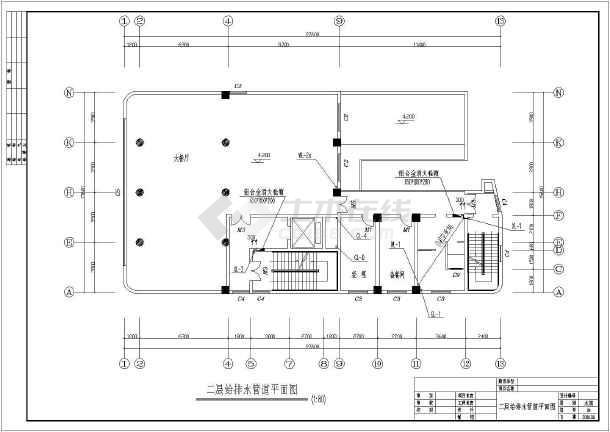 某宾馆十三层框架结构客房给排水设计图