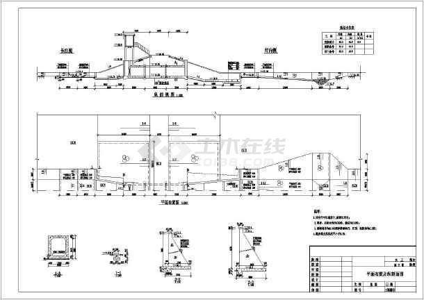 某处穿堤涵闸平面布置以及结构设计