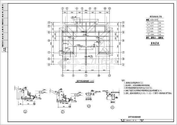 多层框架结构,全图采用平法表示,基础为柱下条形基础.