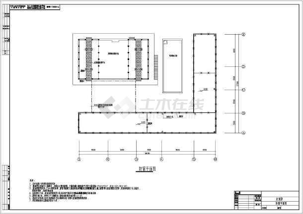 图纸电气学校工业建筑工业厂房建筑图纸设计施工图某水泵房动力设计效果图电气图片