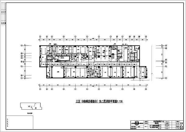 某医院二十一层框架结构住院部给排水消防设计图图片