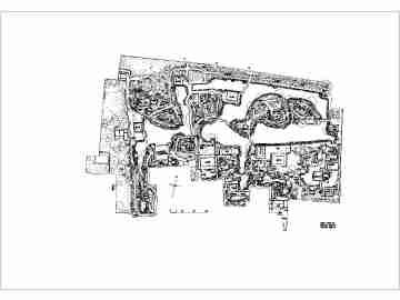 苏州四大园林之拙政园cad总平面图