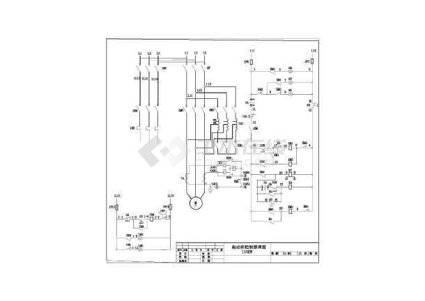 降压 电气 电机 图纸 启动 250kw 110kw/110KW和250KW电机降压启动电气图纸/图2