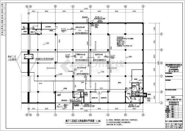 某地某人防地下室建筑给排水施工图