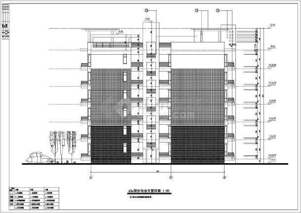 区六层框架结构住宅楼建筑施工图 一梯三户