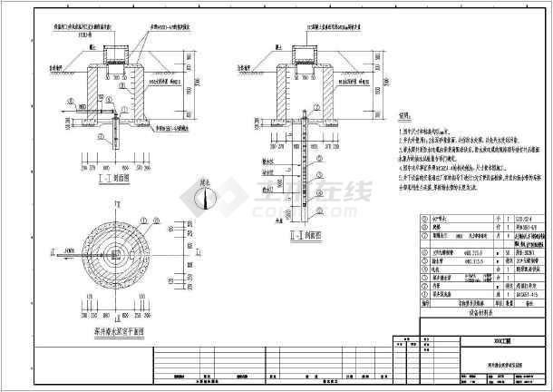 6 本图为水源工程深井泵设备管道安装大样图,图纸包括设备安装大样图