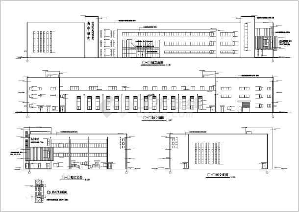 南通市某四层框架结构办公楼设计施工图