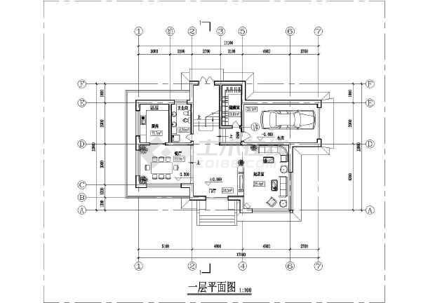 某地两层砖混结构农村别墅建筑设计方案图纸图片