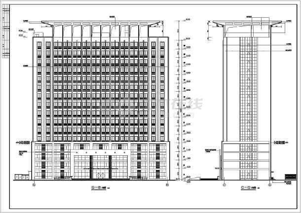 框架剪力墙结构设计,建筑面积2万多平米,建筑高度58.