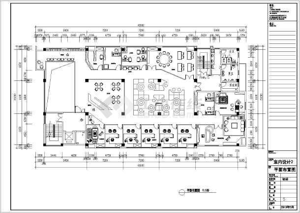 某框架结构办公楼室内空间装修设计图图片