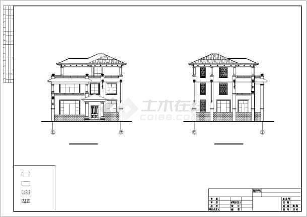 结构别墅(旋转楼梯,坡屋面)