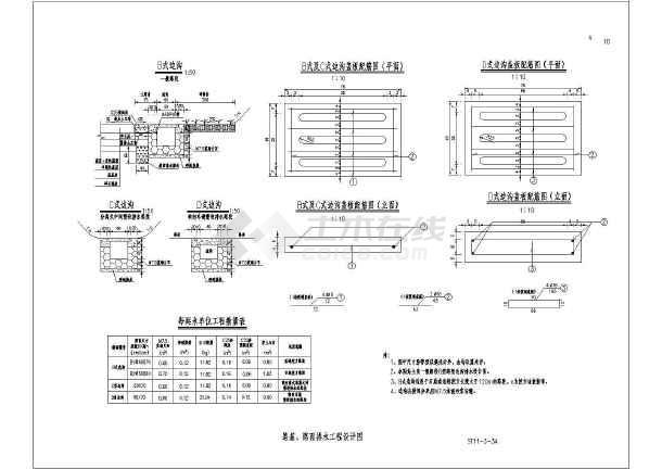 某路基、路面排水工程设计图-图3