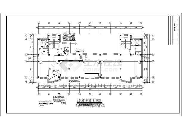 图纸 电气图纸 公共建筑 机关建筑电气设计施工图 某县人民法院建筑