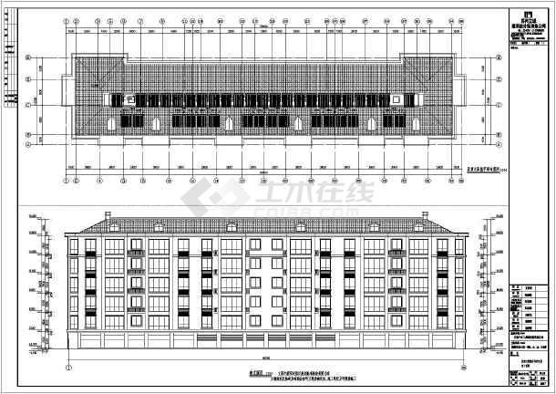 某六层框架结构单元式住宅建筑施工图