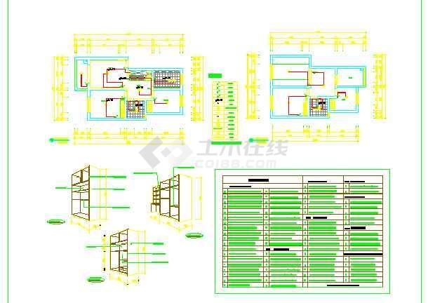 图纸 装修设计 家装设计 复式楼装修 一套三室两厅楼顶复式结构方案图
