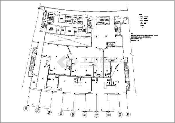 曙光医院净化室结构4层图纸图纸_cad框架下载夹送辊cad图片