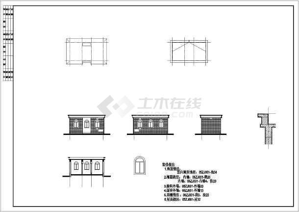 社区的公共厕所建筑,结构施工图