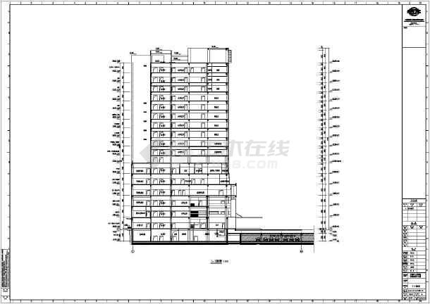 安钢医院住院部综合楼建筑施工设计图