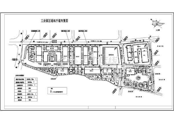 某大型工业园区车间建筑规划总平面图
