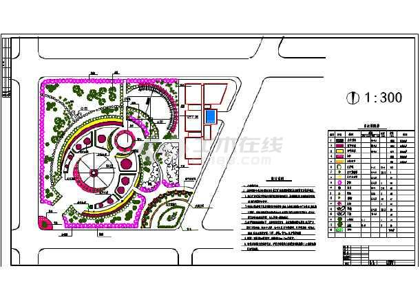 小游园平面手绘设计图展示