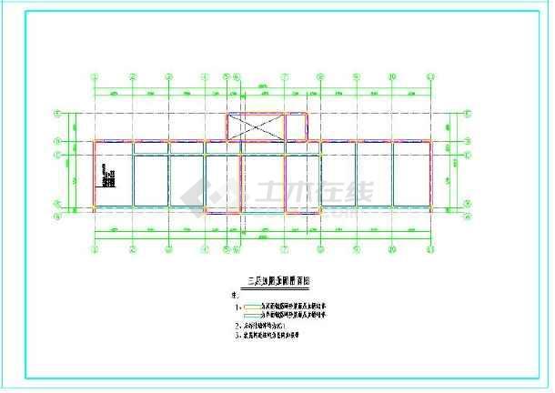 三层砖混教学楼加固结构施工图(7度设防)