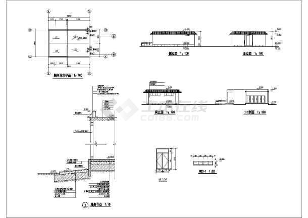 钢结构彩钢瓦屋顶图集
