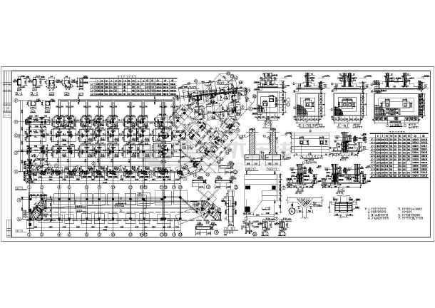 某六层底框结构办公楼结构设计施工图
