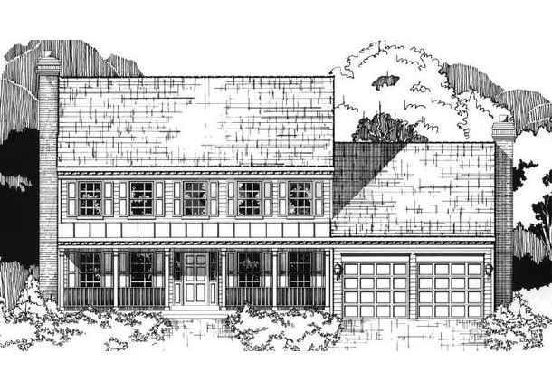 别墅手绘效果图