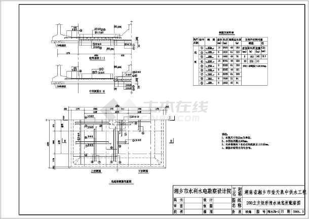 图纸 水利工程设计图 引调水工程