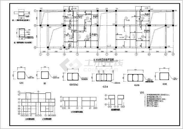 相关专题:六层砖混结构设计全图小别墅结构设计简单二层砖混结构